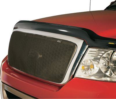 Use this tear-resistant mesh bug screen in the summer for protection from bugs and rocks. No-drill installation is quick and easy with Stick a Stud fasteners, which can be removed without harming your finish. Type: Truck Grille Screen Fronts. - $17.88