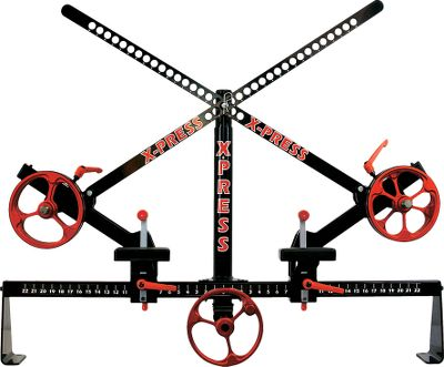 Hunting The XPress Archer is a pro-shop-caliber bow press. It will press most bows on the market including most crossbows. Its fast, safe and easy on bows, allowing you to tune your bows how and when you want. It features fast, simple vertical and horizontal spring-loaded arm adjustments with Quick Spin, one-piece press wheels to fit any bow. Wheels roll on the limbs, while a padded shelf protects limb pockets to avoid damage. These save time and energy and fully lock down the riser to hold compound bows and crossbows in place. Multiple lockdowns add an extra measure of safety. - $599.99