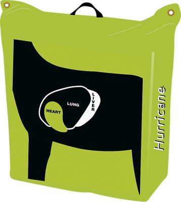 "Hunting With Tri-Core Technology , this target will stand up to hundreds of shots without a pass through. The bright target background with high-visibility hurricane aiming points is easy to see in all lighting conditions. The back has off-center deer vitals that don t line up with the sweet spots on the front for increased target life. Heavy-duty handle provides easy lifting and carrying. Made in USA.Dimensions: 28""H x 28""W x 12""D. - $49.88"