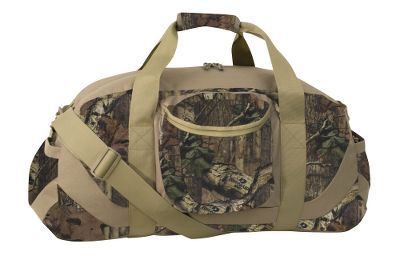 Camp and Hike A field-ready duffel made for rugged outdoor performance. Heavy-duty 600-denier construction for long-lasting durability and wear resistance. Rip Grip wrap carry handles for a comfortable hold. Large zippered main compartment for loading gear. Two side-panel pockets. Fast-access front zip pocket. Adjustable shoulder strap. Includes travel pouch. Imported.Available:Medium 24H x 12 dia.Large 30H x 15 dia.XL 36H x 18 dia.Camo pattern: Mossy Oak Break-Up Infinity. - $39.88