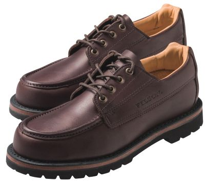 Comfortable, casual shoes for everyday wear, yet rugged enough to get you off the beaten path. Water-repellent leather uppers keep your feet dry and protected from the elements. Moccasin-style toe provides ample room for your toes. Durable welt construction for long-term wearability. Combination leather/rubber midsoles and polyurethane/cork insoles deliver optimum shock-absorbing performance. Fiberglass shanks for added support and rigidity. Vibram Gumlite rubber outsoles for maximum traction on various terrain. Waxed laces for a secure hold. Imported. Mens sizes: 8-13 D width; 9-12 EE width. Half sizes to 12.Color: Brown. - $214.99