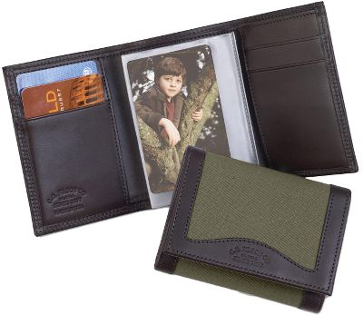 Filsons legendary reputation for timeless style and uncompromising quality appeals to any outdoorsman who wants to own the very best. Tri-Fold Wallets have eight card slots, full-width currency slot and six-position photo holder. Made in USA. Dimensions: 4-1/2L x 3-1/2W.Colors: Otter Green, Tan. - $88.00