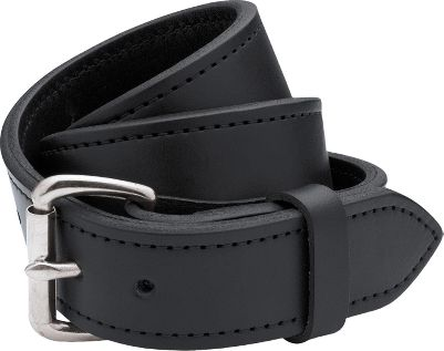 Two layers of Filsons rugged, genuine bridle leather are sewn together into one nearly indestructible piece of gear. The brown belt features a stainless steel roller buckle with brass plating, and the black belt features a stainless steel roller buckle. Seven holes accommodate a custom fit. Made in USA.Width: 1-1/2.Even waist sizes: 28-48.Colors: Black, Brown. Type: Belts. Size: 32. Color: Black. Size 32. Color Black. - $88.00