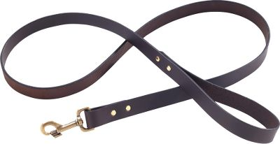 Hunting Filson combined top-notch quality with classic looks to create this sleek, reliable dog leash. Bridle-leather construction with brass hardware and rivets provide a lifetime of use. Manufacturers unconditional lifetime guarantee. Made in USA.Size: 1W x 5L.Colors: Brown, Black(not shown), Natural(not shown). Type: Collars, Leads & Leashes. Color Black. - $50.00