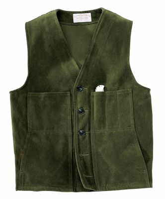 A lighter version of the legendary Mackinaw Vest, the Moleskin Vest provides years of comfort and durability. A tight weave of heavy, 12-oz. cotton moleskin gives this vest its wind-resistant qualities. Two lower handwarmer pockets. Two upper pockets provide storage. The left upper pocket is slotted for pens or tools. Five-button front closure. Dry clean only. Made in USA. Even sizes: 36-50. Colors: Camel, Dark Green. Size: 40. Color: Dark Green. Gender: Male. Age Group: Adult. Material: Cotton. - $135.00