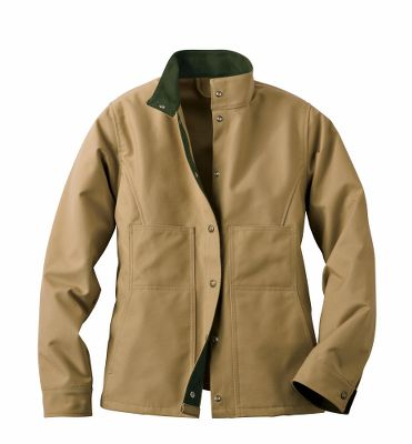 Built for work or around-the-town wear, the Tin Cloth Creek Jacket is crafted with touches of softness and a lifetimes worth of rugged durability. Built of 11-oz. 100% cotton, dry-finish Tin Cloth to withstand the punishment of daily use. For friction-reducing softness, 12-oz. 100% cotton moleskin lines the inside of the cuffs, snap-close front placket and collar, and best of all, it even lines the handwarmer pockets. Snap front closure seals out the cold. Adjustable back tabs pull the jackets fit in close when needed. Made in USA. Center back length for size Medium: 25-1/4. Sizes: XS-XL. Color: Dark Tan. - $140.00
