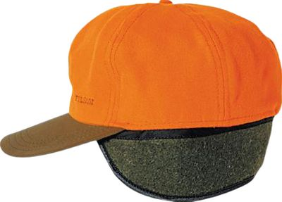 Hunting Filsons Insulated Tin Cloth Cap has a 100% Acrylic Ten Mile cloth crown and 100% cotton oil-finish Tin Cloth bill. The crown is insulated with polyester quilting to help keep body heat from escaping through your head. In addition, there are concealed Mackinaw wool earflaps you can fold down for extra warmth. Made in USA.Sizes: S-2XL.Color: Blaze Orange. Type: Caps. Size: Large. Camo Pattern: Blaze Orange. Size Large. Color Blaze Orange. - $44.00