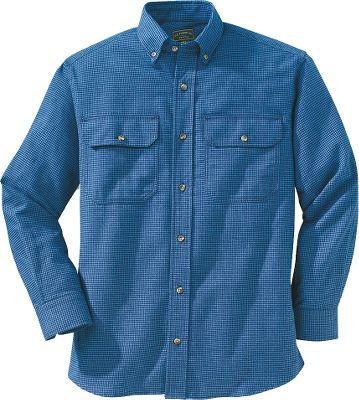 For work or play, Filson crafted this 3.8-oz. 100% cotton shirt for everyday wear. Double upper chest patch pockets with flaps and button closures. Seven-button front closure and adjustable button cuffs. Button-down collar. Machine washable. Imported.Sizes: S-2XL.Colors: Green Plaid, Blue Plaid, Burgundy Plaid. - $85.00