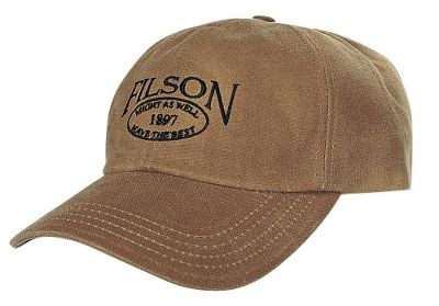 Hunting Proudly wear the embroidered Filson logo wherever you go. The oil-finished Tin Cloth bill crafted of 12.5-oz. cotton repels water during wet-weather hunts. The six-panel, 100% acrylic crown boasts a cotton sweatband for moisture management on hot days. Adjustable leather strap ensures a customizable and comfortable fit. Made in USA. Sizes: M-L. Color: Tan. Type: Caps. Size: Medium. Camo Pattern: TAN. Size Medium. Color Tan. - $32.00