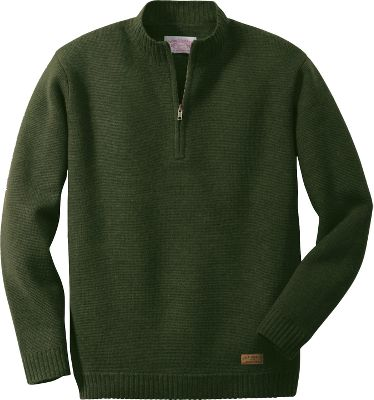 Filsons Midweight 1/2-Zip Sweater has a roomy fit and sturdy construction thats both practical, classic and comfortable. Constructed of midweight merino wool with double-ribbed cuffs, neck and hemline, its 20% lighter than heavyweight wool. Adorned with a discreet brass zipper neck pull. Dry-clean only. Imported.Sizes: S-2XL.Colors:Navy, Loden, Dark Burgundy. Type: Sweaters. Size: 2 X-Large. Color: Loden. Size 2xl. Color Loden. - $235.00