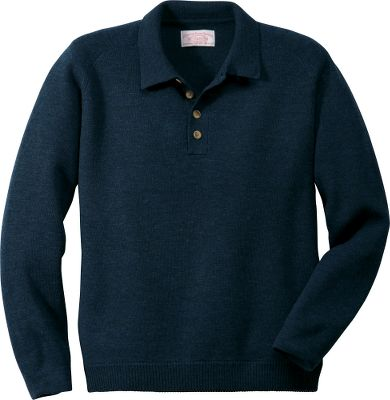 Guns and Military Wear this lightweight Filson merino wool sweater alone, or as a layer on extra-chilly days. Rib-knit, lay-down collar and cuffs seal out cold air. Raglan construction with a four-button closure. Imported.Sizes: S-2XL.Colors: Charcoal, Navy. - $198.00