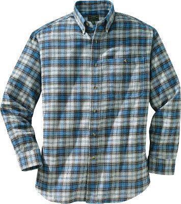 Ideal for everyday wear in brisk weather, Filson crafted this shirt with plenty of extra room for freedom of movement when layered or worn alone. Soft, brushed 5-oz. cotton construction with a seven-button front closure. Left chest, button-through patch pocket. Adjustable button cuffs and button-down collar. Machine washable. Imported.Sizes: S-2XL.Colors: Green Plaid, Blue Plaid, Burgundy Plaid. - $85.00