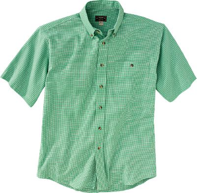 A lightweight, stylish shirt that's perfect for your daily adventures. Classic seven-button design with button pocket and collar give it sharp looks that fit in anywhere. The roomy fit, curved tail and back pleats provide unrestricted motion. 100% cotton. Imported.Sizes: S-2XL.Colors: Green Plaid, Light Blue Plaid, Orange Plaid. - $80.00