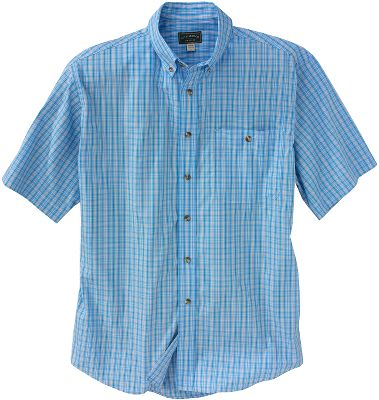 Camp and Hike Casual short-sleeve shirt thats ideal for working or hiking in hot-weather conditions. 3-oz. 100% cotton construction is lightweight and breathable. Front-chest pocket stores the essentials and button-down collar adds a formal touch. Back pleats for increased freedom of movement. Imported.Sizes: S-2XL.Colors: Blue Plaid, Green Plaid, Burgundy Plaid. - $80.00
