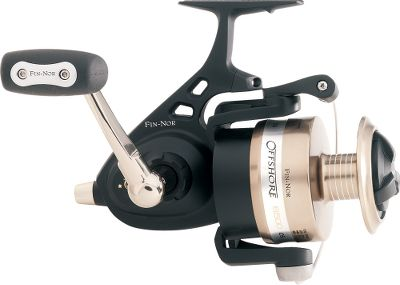 Fishing For more than seven decades Fin-Nor reels have been helping some of the top names in fishing land record fish 361 world records to be exact, including Alfred Classells famous 1,560-lb. black marlin. Its the blending of a tradition of excellence with the latest technology that brings you the Fin-Nor Offshore Spinning Reel. The body, rotor and sideplate are rugged, corrosion-resistant aluminum. The drive gear, pinion gear and center shaft are all precision-machined stainless steel. Superb control of the fight is yours, thanks to an oversized multistack Offshore Drag System. Double shielded stainless steel bearings. Color: Stainless Steel. - $129.88
