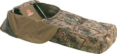Hunting This extremely easy to use layout blind sets up in seconds. Combined with light weight, the easy setup enhances mobility if you have to change positions. Youll be ready to hunt just about anywhere. The insulated backrest and floor shield you from cold ground temperatures. The upper is made with durable 600-denier camo fabric that has a PVCwaterproof backing. The floor is made of waterproof 1,200-denier fabric. Dual side flagging holes. Weight: 11-1/2 lbs. Dimensions: Folded: 25W x 32L. Set up: 25W x 78L x 14H. Camo pattern: Mossy Oak Shadow Grass Blades. Color: Max 4. - $179.99
