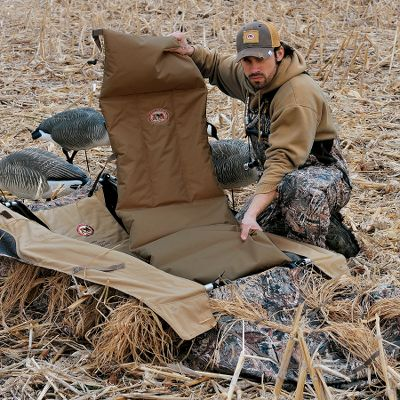 "Hunting Upon compression, the styrene bead padding of the Blind Hot Seat naturally generates heat, creating a layer of warmth between you and the ground. Lightweight and rugged, it works every time without batteries. Fits all layout blinds. Dimensions: 56"" x 19"". Type: Layout Blinds. - $19.88"