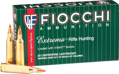 Hunting Fiocchi Extrema Hunting combines the best bullets in the business with their precision-drawn brass cases to give you the best combination of value and performance without breaking the bank. V-Max bullets provide a combination of accuracy, high ballistic coefficients and explosive performance to take out those pesky varmints. Type: Centerfire Rifle Ammunition. - $12.99