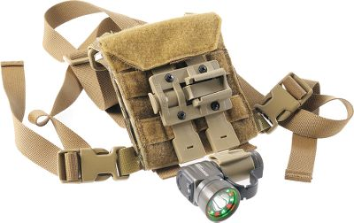 Climbing A nylon pouch developed for training, first responders and combat medics for carrying first-aid and medical supplies or other items. It sports adjustable and removable neck and torso straps for a customized fit and is also MOLLE-compatible. The pouch includes a MOLLE TRS mount for carrying a Tomahawk tactical flashlight (flashlight not included). Exterior has a hook-and-loop surface for easy attachment of other items. Made in USA. - $59.99