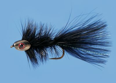 Flyfishing The same fish-attracting power of a traditional woolly bugger with a Fish-Skull instead of a traditional fly-tying bead. The result is an effective, multipurpose fly that resembles a fleeing minnow, and when dead-drifted, mimics a variety of aquatic insects. Per each. Sizes: 4, 8. Colors: (003)Black, (032)Olive, (074)Brown. Color: Olive. Type: Woolly Buggers. - $2.39