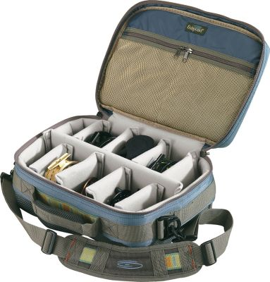 "Fishing This fully padded case affords optimal protection for your reels, spools and fly boxes. Its compression-molded bottom adds durability, and inside are adjustable, padded dividers so you can organize the contents to fit your needs. There are also two zippered interior pockets for tippet and leader storage. The case has a convenient carry handle and shoulder strap. Imported.Dimensions: 13""L x 9""W x 5-1/2""D.Color: Slate Blue. Type: Reel Cases. Size Reel Case. - $67.88"