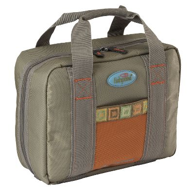 Flyfishing A travel fly-tying bag thats compact in size, but designed so you can bring along everything you need to tie flies to match the hatch. Internal vise storage pocket with two zippered compartments. 22 small storage pockets. Four large, see-through zippered mesh material pockets. Velcro brand lining for adding accessory pouches. Two 9 clear tubes for thread spools. One 4-1/2 x 9 x 1 box for hooks and beads. 18 resealable bags with Velcro attachment. Imported. Dimensions: 12 x 4 x 9-1/2. Size: ROAD TRIP. Color: Clear. - $89.95