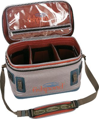 Fishing The molded top and bottom lets this bag keep its shape, even when tossed around on the boat. Heavy-duty 1,680-denier TPU nylon and waterproof zippers ensure your gear stays dry, even in the wettest conditions. Three clear, interior zippered pockets stash essentials, while keeping them visible for quick access. An adjustable Velcro divider system provides modular organization for the main compartment. Top strap is adjustable for shoulder or hand carry, and four lash tie-down points secure the bag while on your boat. Imported.Capacity: 976 cu. in.Weight: 3.7 lbs.Dimensions: 12.5H x 17.5W x 10D. Type: Boat Bags. Size Westwater Boat Bag. - $219.95