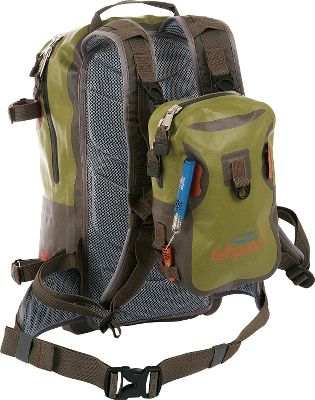 Camp and Hike Tough, waterproof backpack is perfect for day trips. The large main compartment stores plenty of gear, while a secondary pocket holds small essentials. A set of straps on the side keeps your rod tube secure, and a D-ring allows for easy net attachment. Modular shoulder straps allow a chest pack to be mounted for quick access to tackle. Waist and sternum straps deliver day-long comfort and support. Rugged 420-denier TPU nylon construction with waterproof zippers. Imported.Chest pack (32-2697) sold separately.Capacity: 976 cu. in.Weight: 1.5 lbs.Dimensions: 18.5H x 9.5W x 6D. Type: Backpacks. Size Westwater Backpack. - $119.88