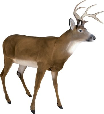 Hunting All the game-luring perks of the Boss Buck decoy, plus its flocked, which reduces noise during transport and setup, and adds a furlike appearance to an already lethal decoy. Twist-locking leg system adds exceptional stability, durability and easy assembly. The limbs, head and antlers all fit inside the body cavity for easy transport. Comfortable shoulder strap attached between the chest and hindquarters enables you to easily carry the decoy. The rear leg accepts scent pads. 8-point, 120 class antlers. Weight: 22-1/2 lbs. - $229.99
