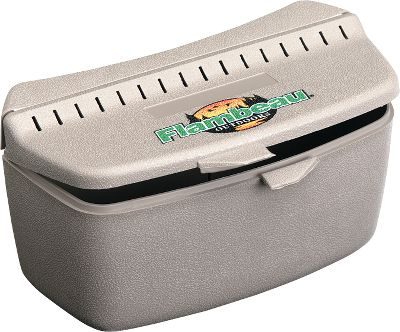 Fishing Keep live bait cool, fresh and within reach with the innovative Belt Mate from Flambeau. This bait box attaches easily to any belt up to 2-1/2'' wide. Great for worms, leeches, grasshoppers and crickets. Features a vented, snap-latch cover. Made of durable, lightweight plastic. Made in USA. Dimensions: 7 x 3.6 x 3.5 . Color: Taupe. Color: Taupe. Type: Bait Keepers. - $5.99