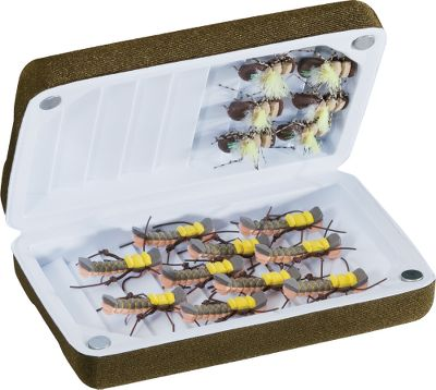 Flyfishing Keep the weight in your vest or pack to a minimum when you carry these lightweight, yet sturdy, high-density foam boxes. Lids shut tight with self-locking magnets. Ripple foam on both sides. Available: Mini 4-1/2L x 3W x 1-1/4D Medium 5-1/2L x 3-1/2W x 1-1/2D Large 6-1/2L x 4W x 1-3/4D Size: Small. - $1.88