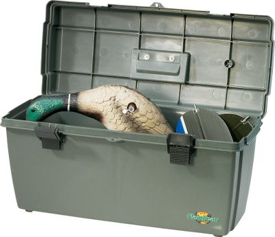 Hunting Keeping water away from your expensive electronics and dry goods is not a problem when you carry a Flambeau Watertight Gear Box in your pickup truck or boat. A gasket seal between the lid and storage compartment prevents outside moisture from seeping in. Fits most spinning-wing decoys. Size: 23 L x 11-1/2 H x 9-3/4 W. Type: Gear Box. - $22.88