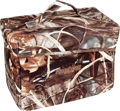 Hunting The easy way to transport up to six boxes of 3shells. Reinforced, padded walls are built to take a beating. Large, double-zipper-pull opening. Hook-and-loop and clip lid closure ensures weather resistance. Imported.Camo patterns: Realtree MAX-4, Mossy Oak Duck Blind. Type: Shell Cases. Color Mossy Oak Duckblind. - $20.88