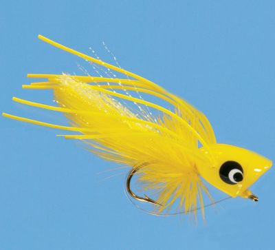 Flyfishing Fishing poppers is one of the most exciting methods to catch fish. These Hard Poppers feature the colors and water-disturbing construction to attract hungry panfish and bass. Per each. Sizes: 4, 6, 8. Colors: (003)Black, (004)Yellow, (348)Frog, (420)Tequila. Color: Yellow. - $2.88
