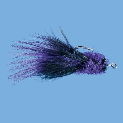 Flyfishing Five-time winner of the Gold Cup tarpon tournament, Andy Mill has proven this fly to be one of the most effective flies for big tarpon. The fly floats on the water column and undulates in a current to tempt tarpon into a strike. Chartreuse color is good on bright sunny days. Purple is the color of choice for dark days and colored water. Per each. Size: 2/0. Colors: (012)Purple, (096)Chartreuse. Color: Gold. Type: Saltwater Flies. - $1.88