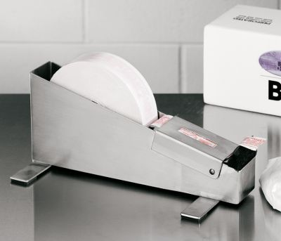 When you need to efficiently and securely package large quantities of meat, this tape dispenser is the way to go. As you pull the tape through, the dispenser wets the gummed tape, activating the starch-based adhesives. Use it to create a fast, permanent seal on packaging. Accepts standard 500-ft. rolls of 35-lb. gummed tape up to 1-12W. Brush and water reservoir can be easily cleaned after each use. Tape sold separately. Dimensions: 11-12L x 6D x 5H. - $49.99