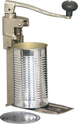 The biggest jobs, including quickly and easily opening commercial-sized cans, require the best equipment. These powerful crank-style can openers feature all-metal construction and bolt-to-counter bases. Available: Model CO-1 Fits cans up to 11 H. Measures: 20 L x 5 W x 10-1/4 H. Weight: 8 lbs. Model CO-2 Fits cans up to 7 H. Measures: 18 L x 5 W x 10 H. Weight: 8-3/4 lbs. - $59.99