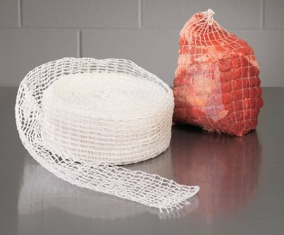 Small square netting compresses evenly over the meat surface, reducing air pockets for easier peeling. Works for both low-temperature smoking and high-temperature roasting. Sizes:12 - 3.5 dia.18 - 5 dia.22 - 6 dia.28 - 8 dia. - $24.99
