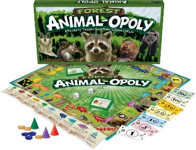 Collect your favorite animals and compete to become the best caretaker of the forest. Two to six players take turns navigating the board, collecting animals and avoiding penalties. Fun facts about each animal are listed on the back of their deed, providing education along with fun. Ages 8 to adult. - $29.99