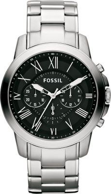 Entertainment The stunning Fossil Brushed-Smoke Watch features a stainless steel bracelet strap and sharp, contrasting black dial, adding polish to any look. Water resistant to approximately 50 meters. Limited 11-year manufacturers warranty. Imported. Case diameter: 44mm. Color: Stainless steel. Gender: Male. Age Group: Adult. Type: Analog Watches. - $135.00