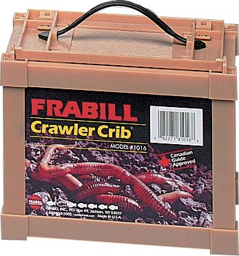Fishing Crawler Cabin is constructed of a non-corroding frame and fiber walls that breathe to keep your worms fresh and lively. Dimensions: 8 x 6 x 7. - $9.88