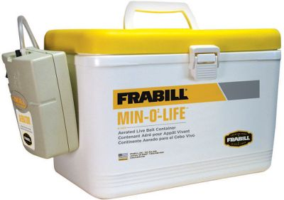 Fishing With a capacity up to three times the size of a standard minnow bucket and a top-quality aeration system, this portable bait station will keep a full days supply of bait fresh and lively. Its easy to transport and stow once you get it aboard. The entire container is fully insulated and includes a tight-sealing lid to minimize spills and lost bait. The lift-out net liner eliminates the need for a minnow net. Just lift it out to retrieve your bait. Aerator requires two D-cell batteries.Dimensions:12-1/2L x 8W x 7-1/2H. Type: Aerators. - $47.99