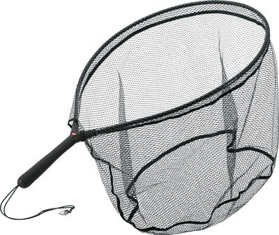 Fishing Ideally sized for salmon and steelhead with a large hoop and generous depth. Fish-friendly, tangle-free micromesh netting for catch-and-release techniques. The 8 handle with rubberized grip ensures secure handling in wet conditions. Elastic cord with swivel clip. Imported. Dimensions: Hoop: 23L x 19W, Net depth: 16. - $26.99