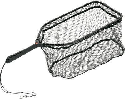 Fishing Coated 316 mesh prevents hooks from tangling in netting. Rubber handle for a sure grip when wet. Lanyard with heavy-duty clip for convenient carry. Available: Teardrop 11L x 15W. Teardrop 13L x 18W. Square 20L x 9W. Type: Landing Nets. - $19.99