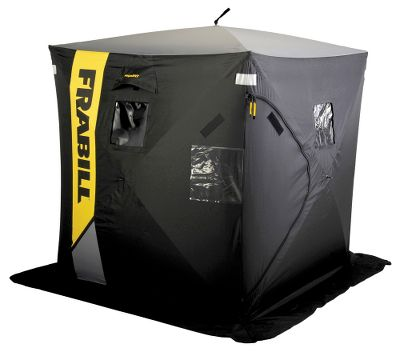 Fishing Fish with a friend in a spacious shelter that offers 25 sq. ft. of room for both of you and your gear. Its MaxVent Air Exchange System ensures ample circulation of fresh air for safety. Front and rear zippered doors provide two ways in and out. Four clear removable windows. Quick and easy hub-style setup and takedown with a quick-set frame. Ice anchor kit included. Model 7001 has the added advantage of three-ply insulated-fabric construction that maximizes heat retention, eliminates condensation and reduces noise and wind whip. Imported.Dimensions folded: 43L x 8W x 8H.Dimensions deployed: 60L x 60W x 67H.Weight: 25 lbs. - $229.99