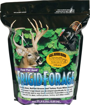 Hunting This unique blend is for the serious whitetail hunter. Plant it in either the spring or late summer/early fall for a healthy mix of perennials and biennials that improve protein intake during the critical antler-growing portions of spring and summer. This mixture contains primarily long-lasting perennials, and a small percentage of forage turnips, Daikon forage radishes, rape and sugar beets to provide additional forage the first season while the alfalfa, clover, and chicory become established. These annuals protect the alfalfa and chicory because they are both susceptible to overgrazing during the critical stages of early growth. Wall Hanger is pH sensitive, so for best results ensure your soil acidity is between 6.5 and 7.5. Seeding rate is 8-10 lbs./acre. Prefers full sun, and does well in light or sandy soil.Size: 8.5-lb. bag plants 1 acre. - $49.99