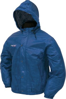 Keep this lightweight packable rain jacket in the truck, camper or boat for those unexpected showers. It is extremely lightweight and packs easily. The patented fabric is constructed using three layers of polypropylene with a center layer of microporous film. Because the pores are 20,000 times smaller than a raindrop, moisture cannot penetrate, yet moisture vapor can easily escape so you stay cool, dry and comfortable. All seams are fully sealed. Machine washable. Imported. Sizes: S-2XL. Colors: Black, Grey, Blue. - $29.95