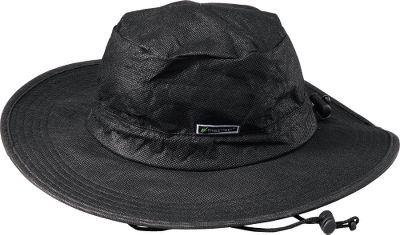 Outfit yourself for sun and rain. Constructed of Frogg Toggs Classic fabric, this adventurous hat is 100% waterproof, breathable and completely packable. The oversized brim keeps sun and rain out of your face and off your neck. Internal comfort band. Tension-adjustable shock cord. One size fits most. Imported. Colors: Black, Stone. Size: One Size. Color: Stone. Gender: Male. Age Group: Adult. - $8.99