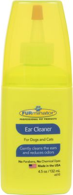 Hunting Specially formulated for frequent use, Furminator Ear Cleaner gently and safely washes your dogs ears while reducing odors. Free of parabens, artificial colors and chemical dyes. For topical use on dogs and cats over 12 weeks. Made in USA. Size: 4.5 oz. - $5.99