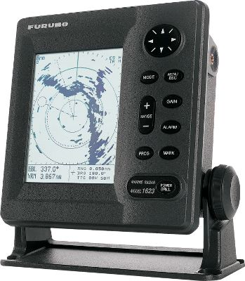 Camp and Hike Waterproof, 6 monochrome LCD display 240x320 display resolution Accurate, tri-speed 15 radome with 2.2kW transceiver 10-meter signal cable assembly 13 user-selectable range scales from 1/8 to 16 nautical miles 6.2 horizontal beamwidth Ergonomic design Target display to four levels of gray tones Three transmitter pulse lengths and repetition rates Linear receiver with 10db noise figure Automatic receiver tuning Automatic/manual sea-clutter adjustment Automatic/manual receiver gain adjustment Sector blanking Rain clutter control Echo stretch and interference rejection modes Watchman mode for radar system control Full-screen navigation data display Omni Pad control for easy menu operation Picture off-center shift Electronic bearing line and variable range marker Target or echo trails with selectable time intervals Adjustable duplex radar guard zone alarm Target lat/lon output for use with plotter Time offset adjustment User-programmable navigation data screens Connects to BBWGPS GPS/WAAS receivers Wind indication with sensor 12-24 VDC only, 36-watt power requirement Color: Gray. - $1,499.99